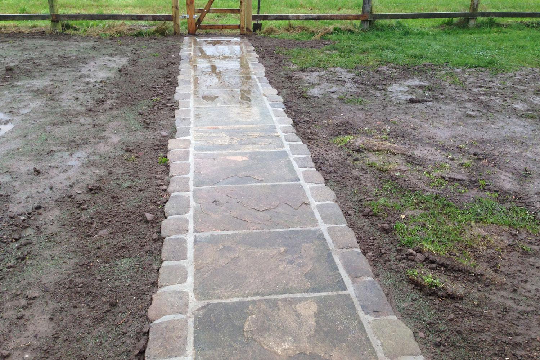 groundworks yorkshire kirk hammerton path 1